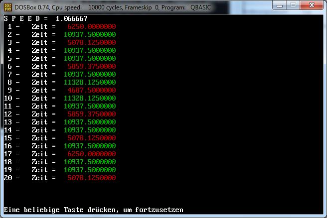 CPU spped