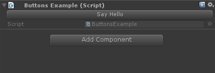 Button in the inspector