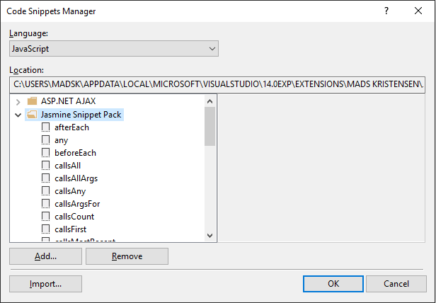 Snippet manager