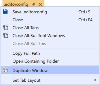 Duplicate window