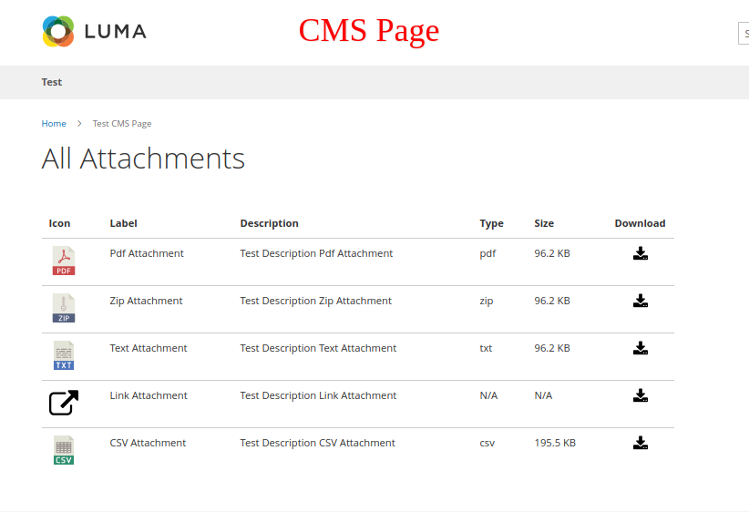 CMS page
