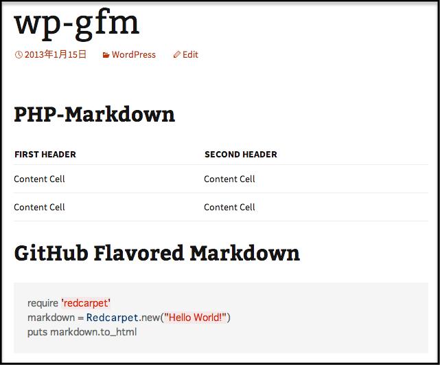 github flavoured markdown