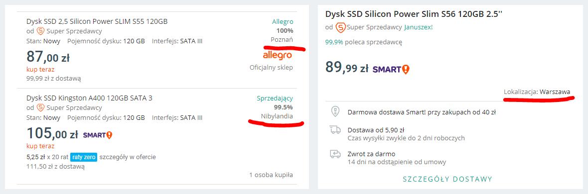 Allegro Seller Info