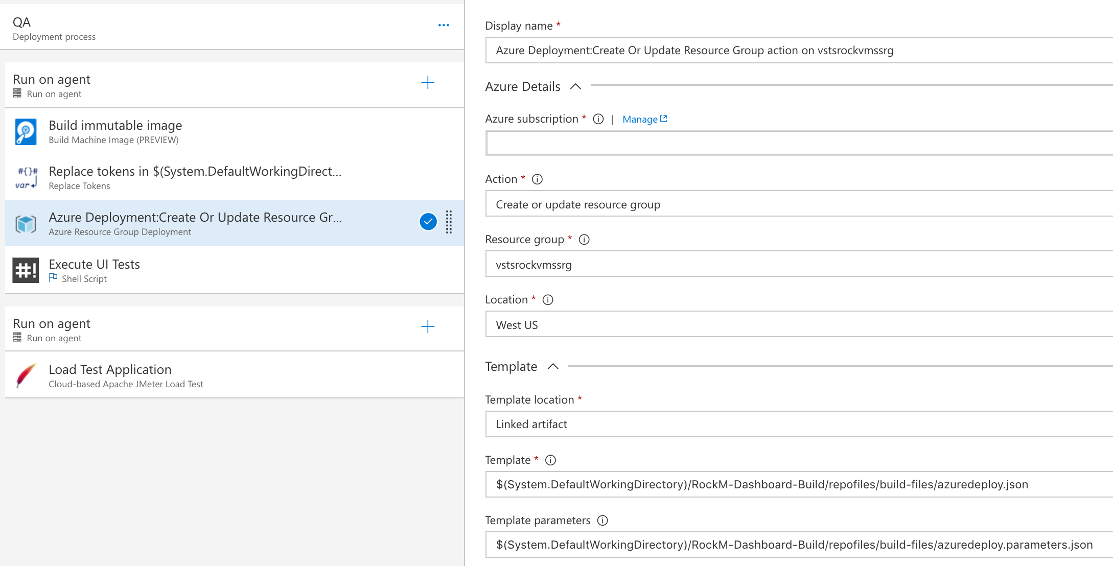 Azure Group Deployment