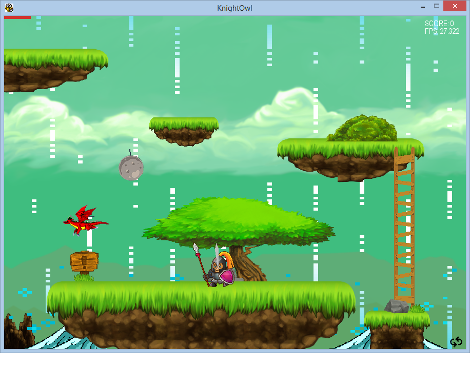 KnightOwl | A python based 2D game powered by Pygame 2D engine