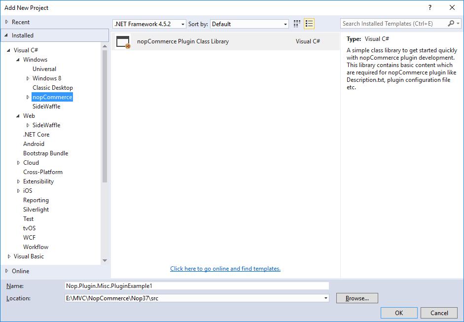 Project Dialog Window