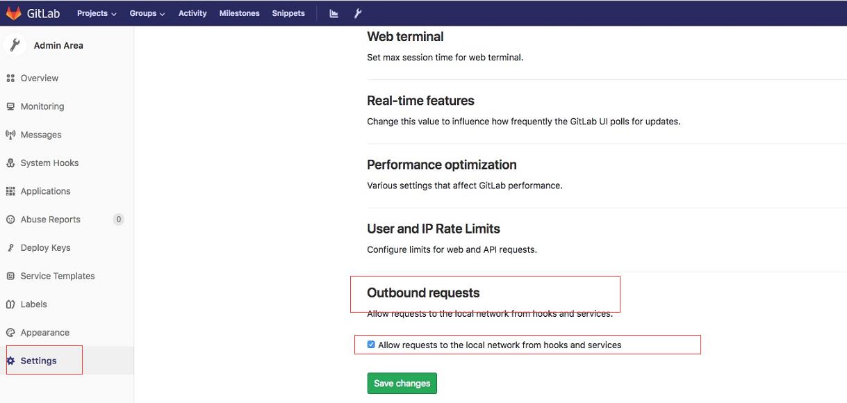 Gitlab 允许WebHook