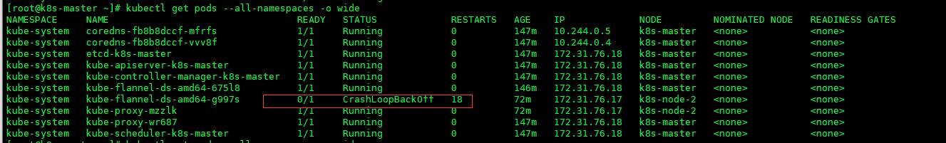 node节点DNS CrashLoopBackOff