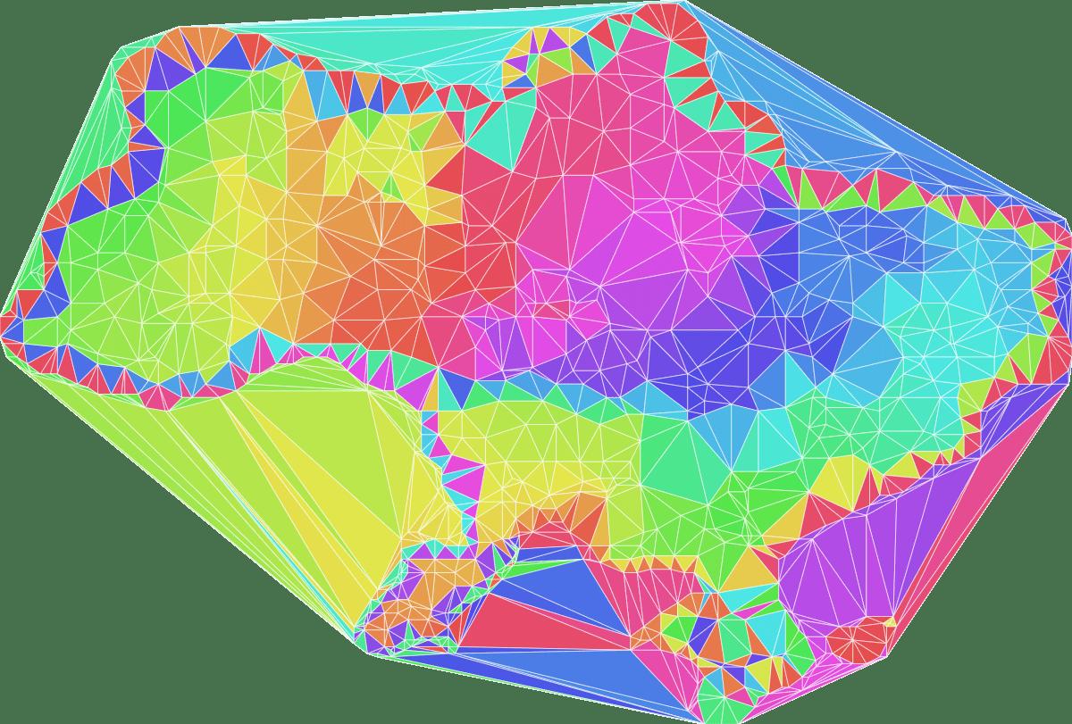 Delaunay triangulation example