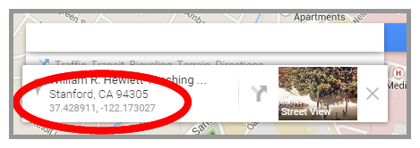 Google Maps Coordinates