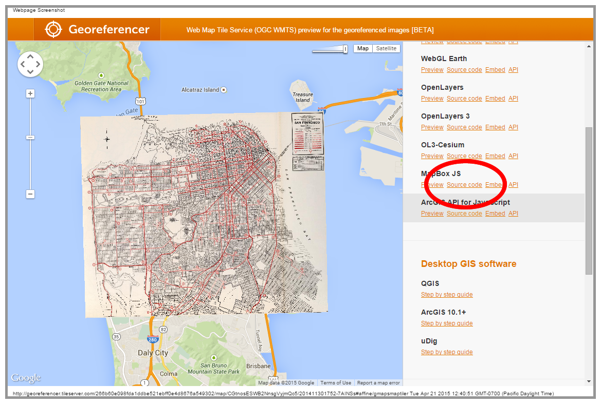 MapBox Embed Code