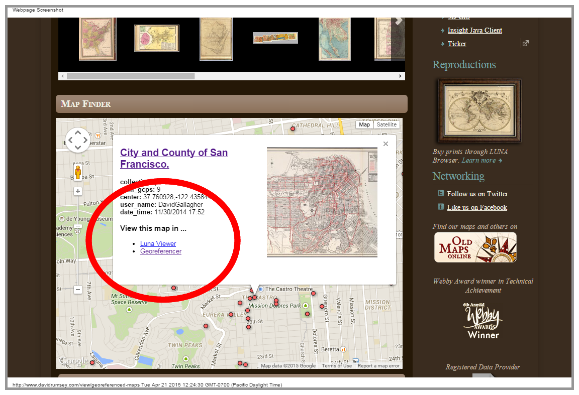 Rumsey Map Finder
