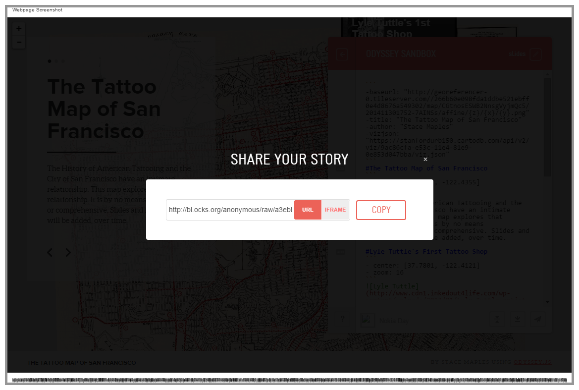 Share Story Map