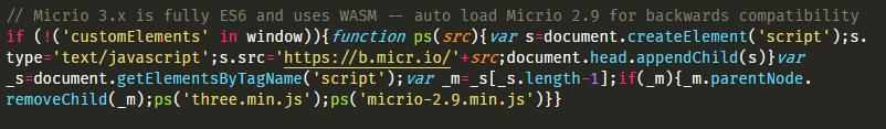The backwards compatibility JS