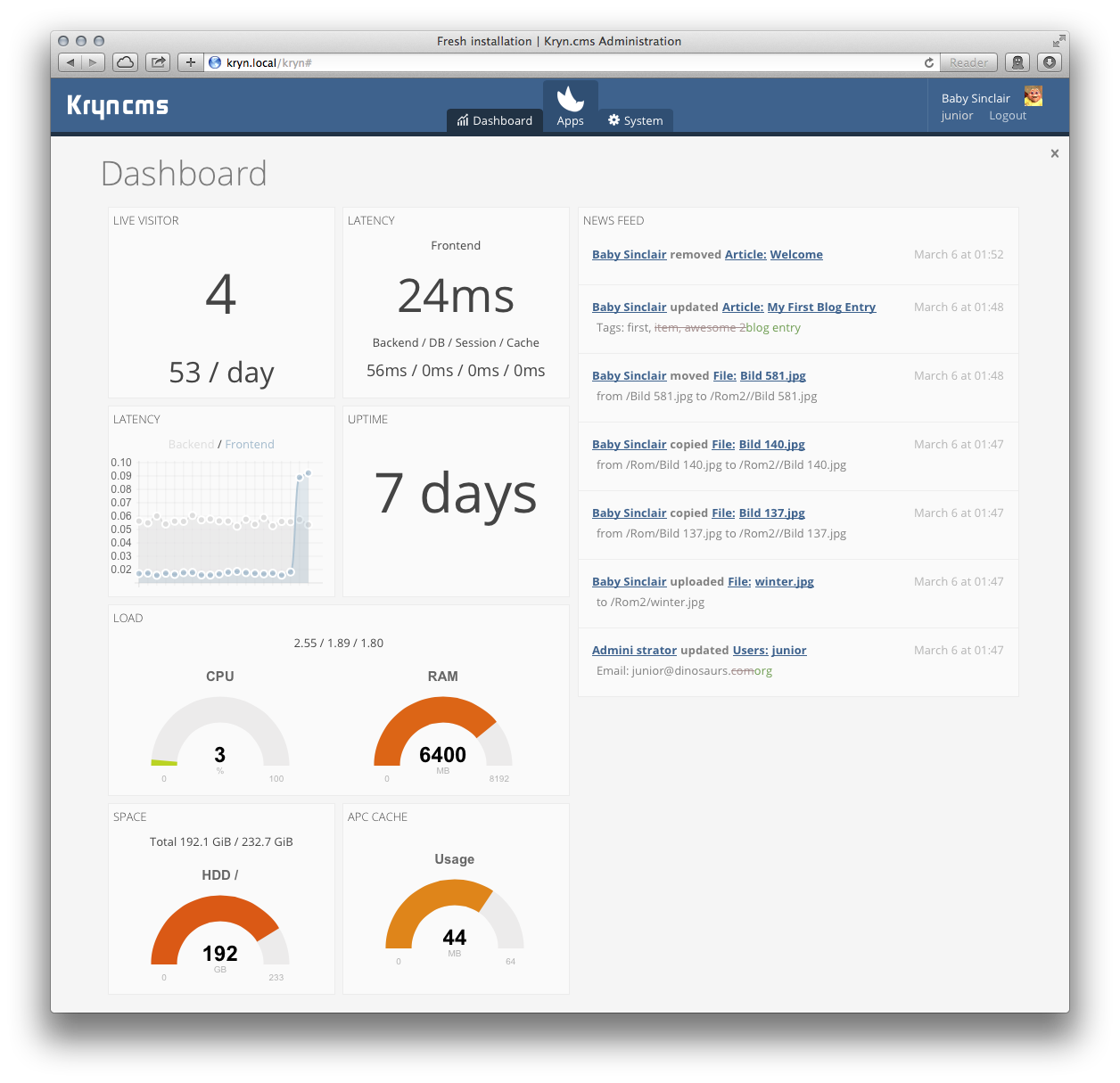 Administration Dashboard