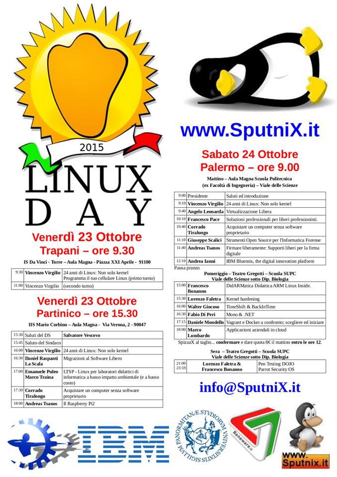 Linux Day 2015 Palermo programma