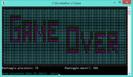 NumbeRun v1 - game over