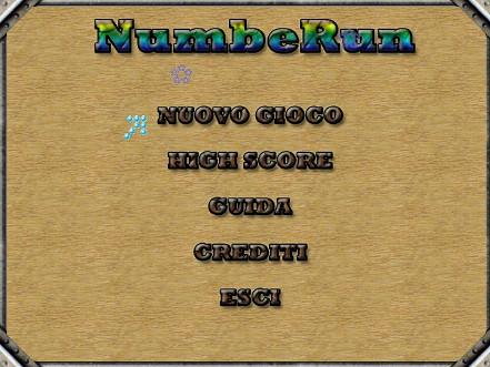 NumbeRun v2 - menu