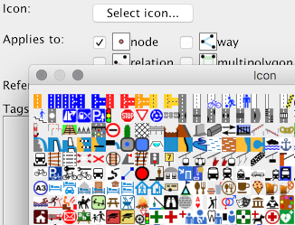Icon picker dialog