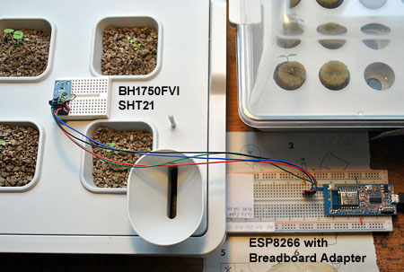 Sensors on cultivation unit