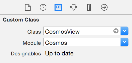 Add Cosmos rating view to the storyboard