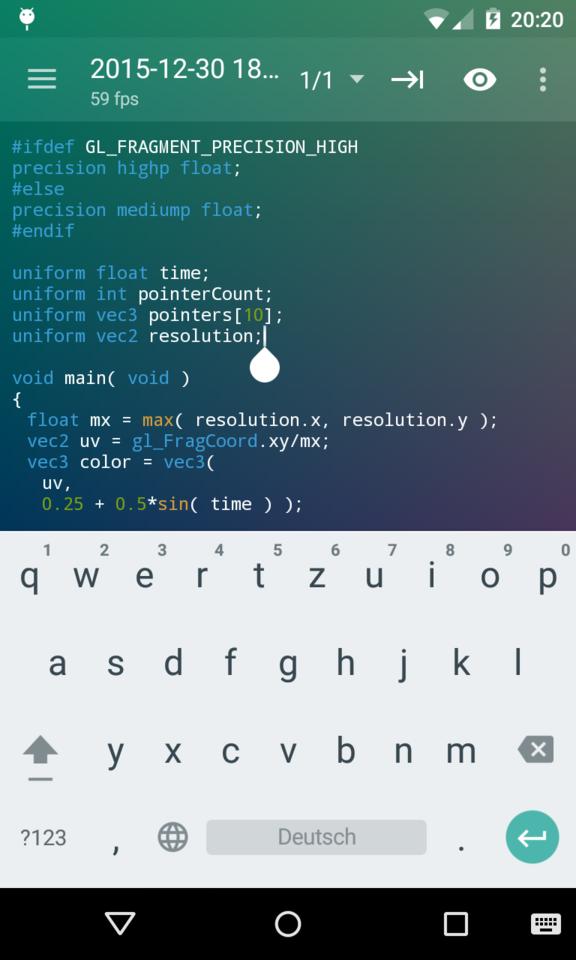 Screenshot with soft keyboard
