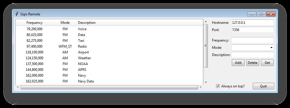 gqrx-remote-windows