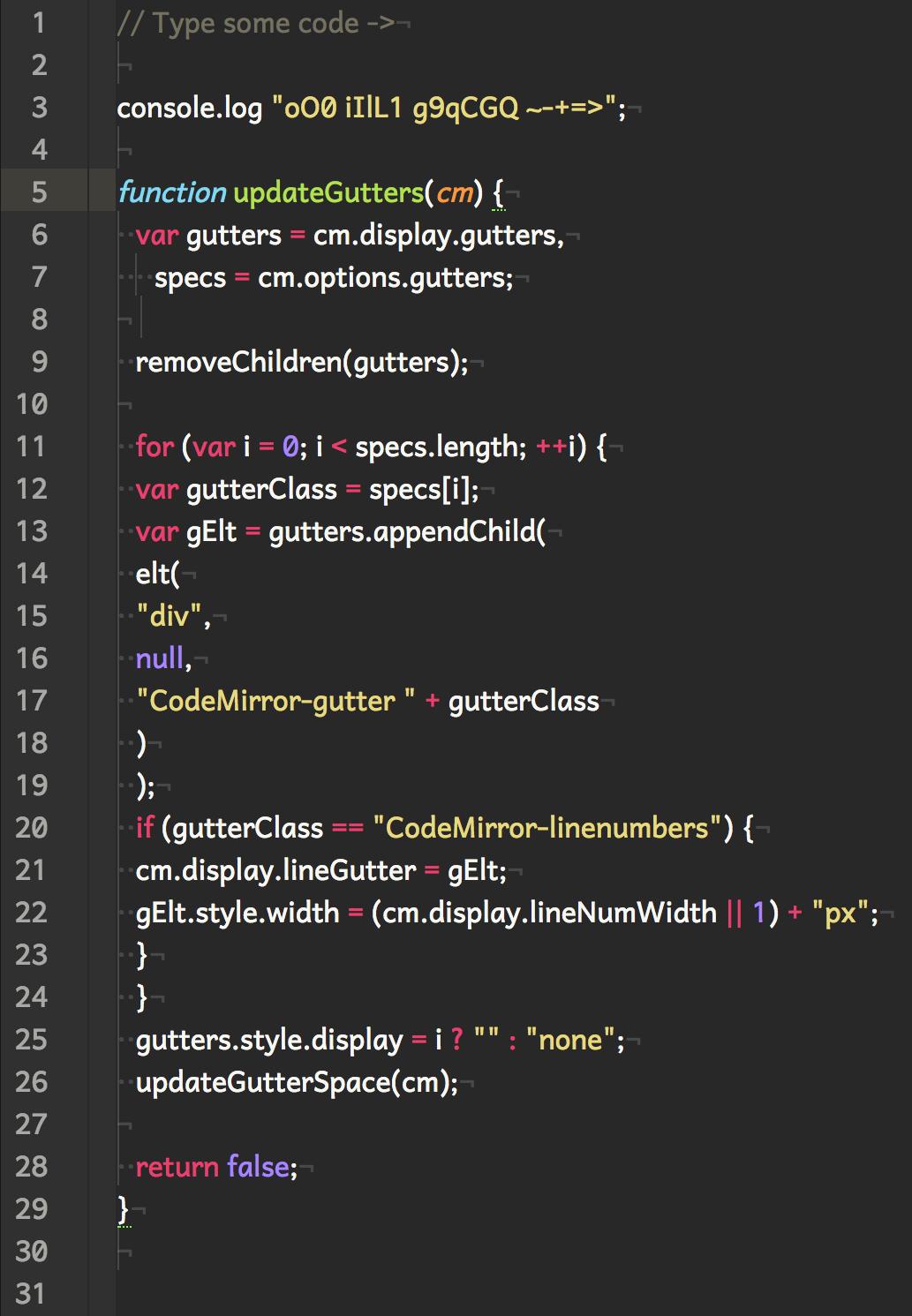 [Screenshot of code in Andika font]
