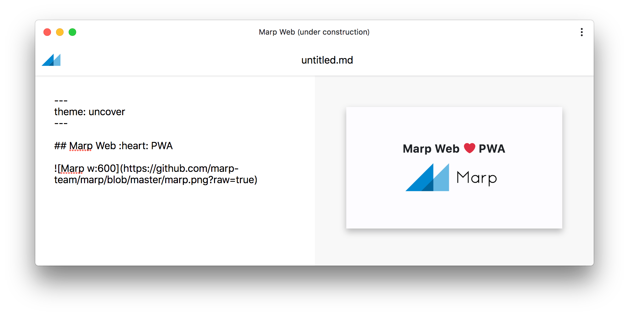 ⚠️ This app is not maintained, try to use Marp Next