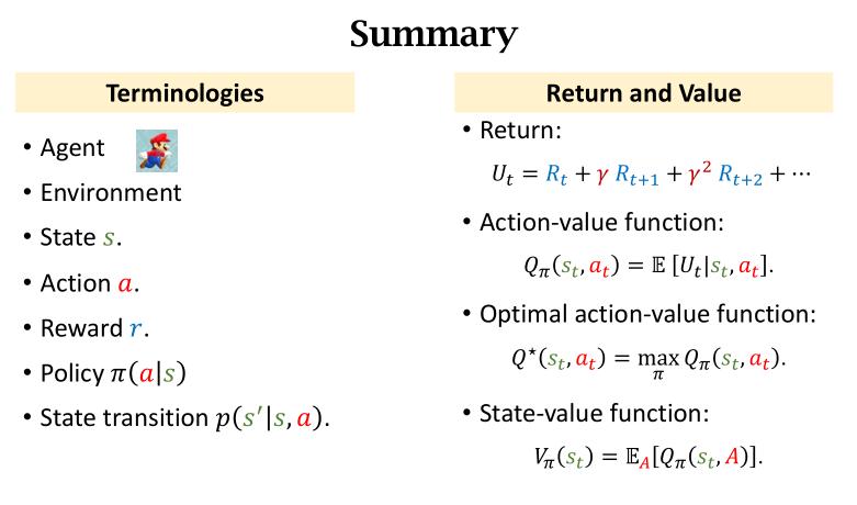 RL terminologies