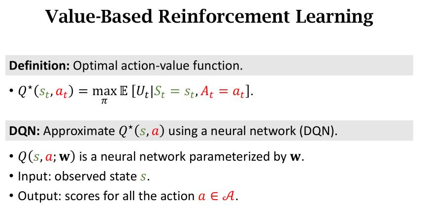 Value-based RL