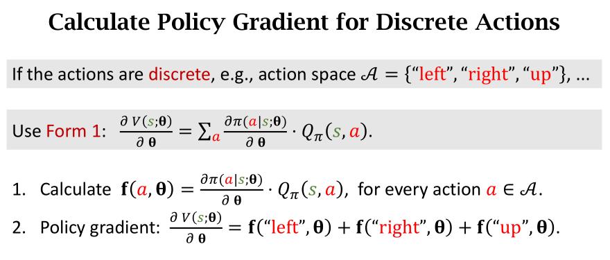 discrete policy gradient