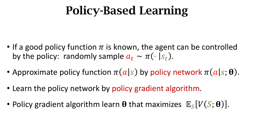Policy-based Learning