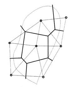 thiessen polygon network