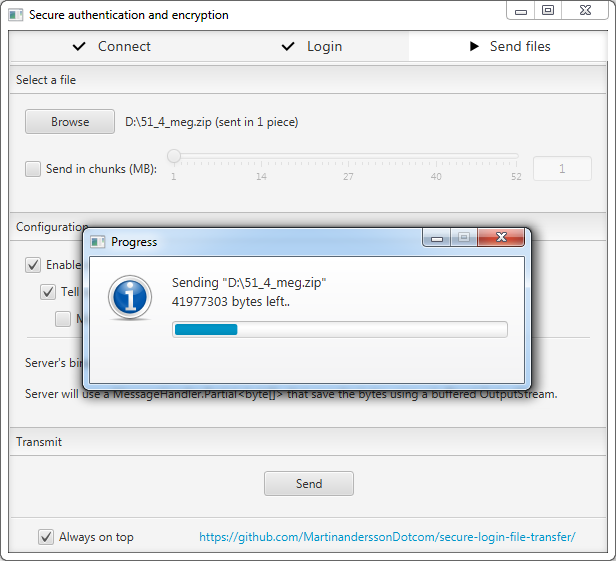 File transfer in progress
