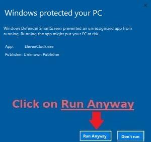 Defender Smart Screen Run Anyway Screen