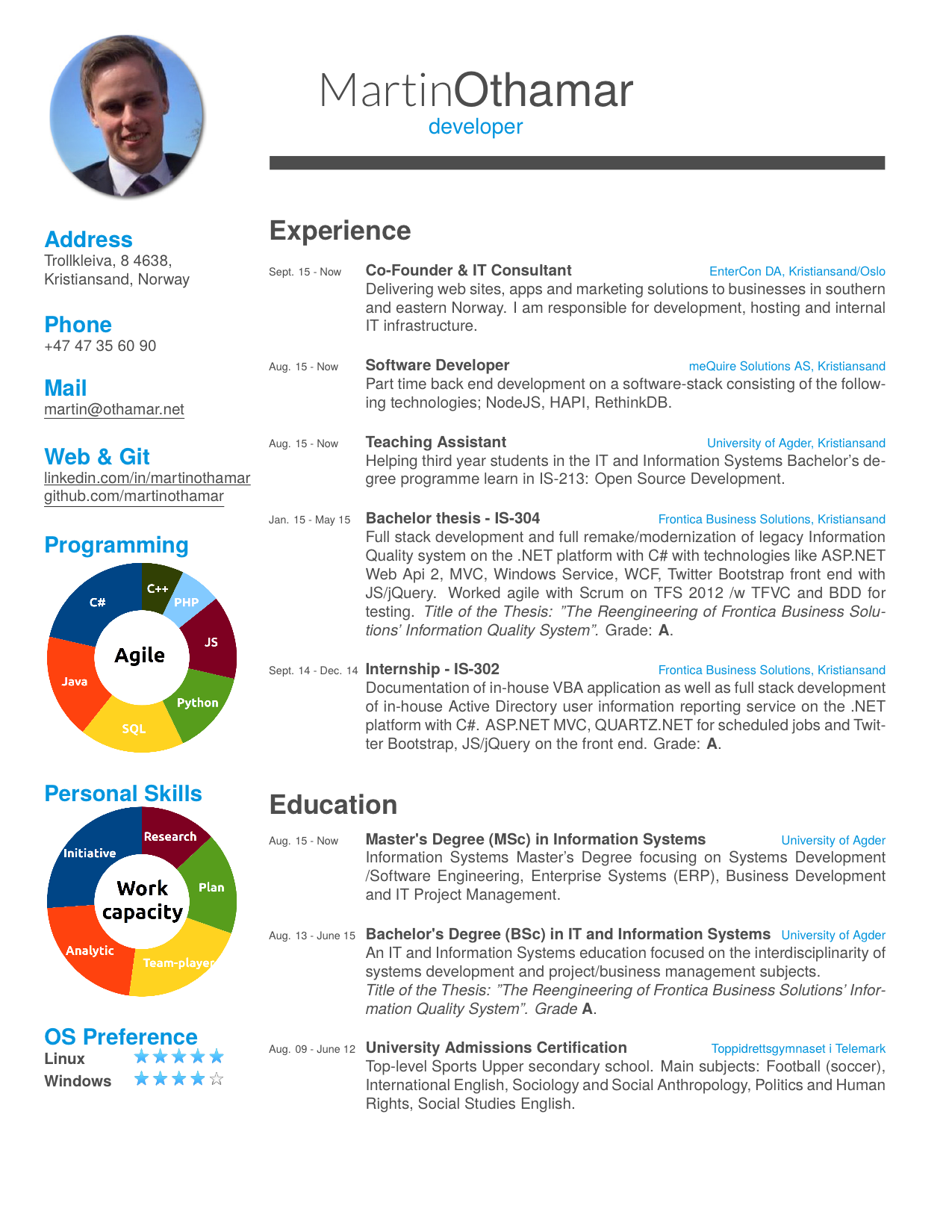 Github martinothamar cv latex template a cv resume for Texmaker templates