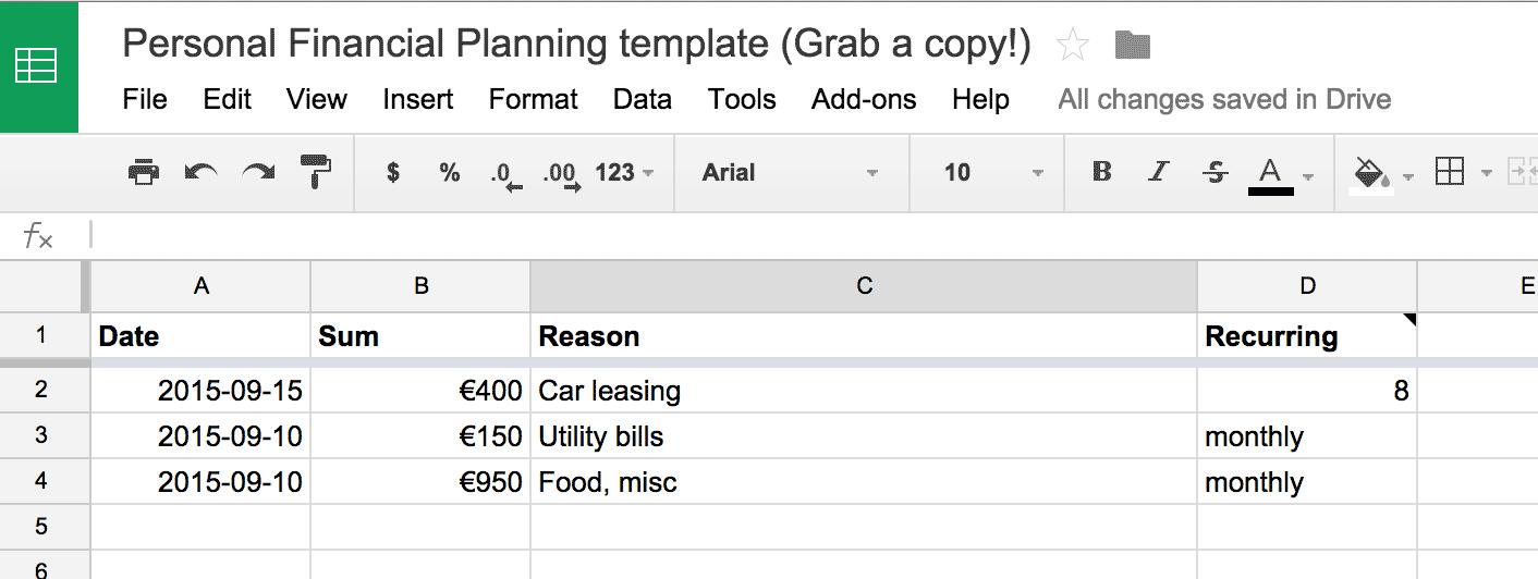 github martintajur personal finance planner a little handy node