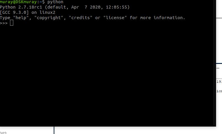 Python in commandline