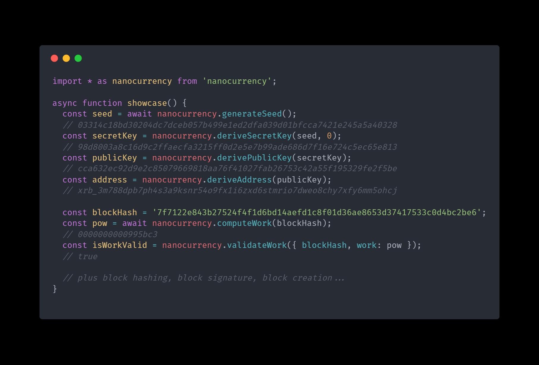 Code showcase