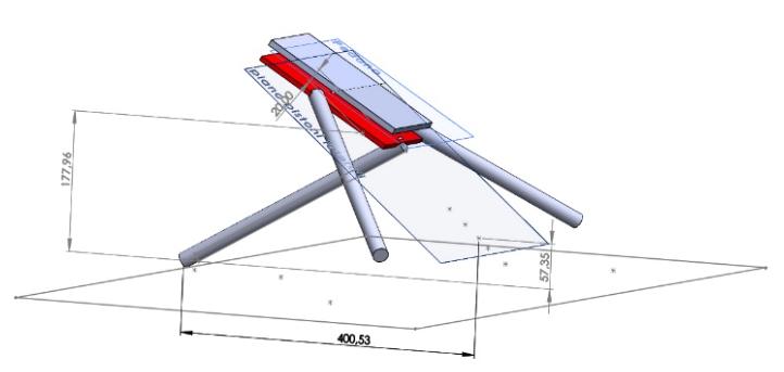 Fig. 11 - Geometria di partenza per la pedana