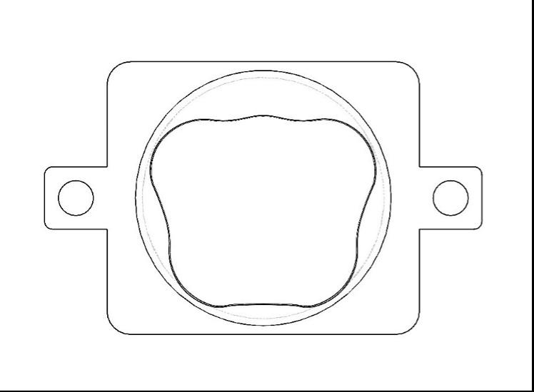 Fig. 21 – Vista perpendicolare parallela alla piastrina di accoppiamento.