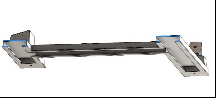 Fig. 43 – Vista in sezione del modello finale della base