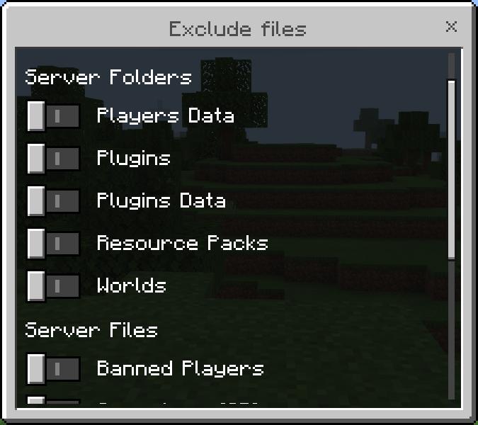 ExcludeFiles