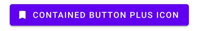 Contained button with a bookmark icon