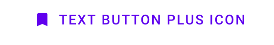 Text button with bookmark icon example