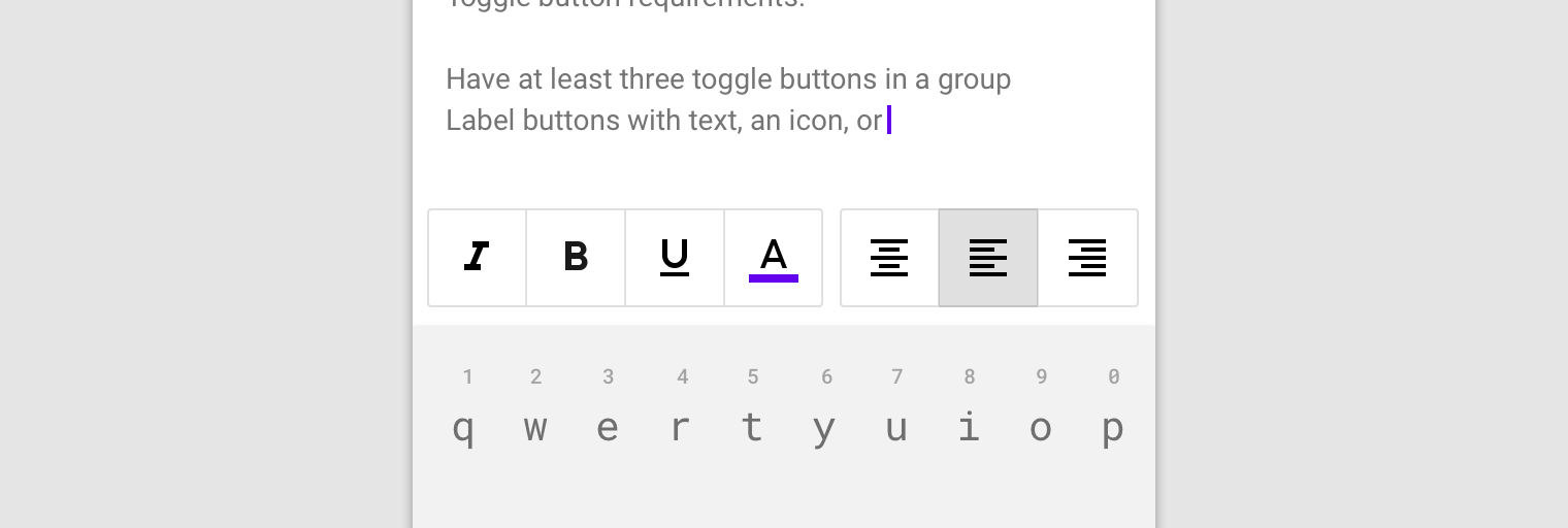 toggle button group