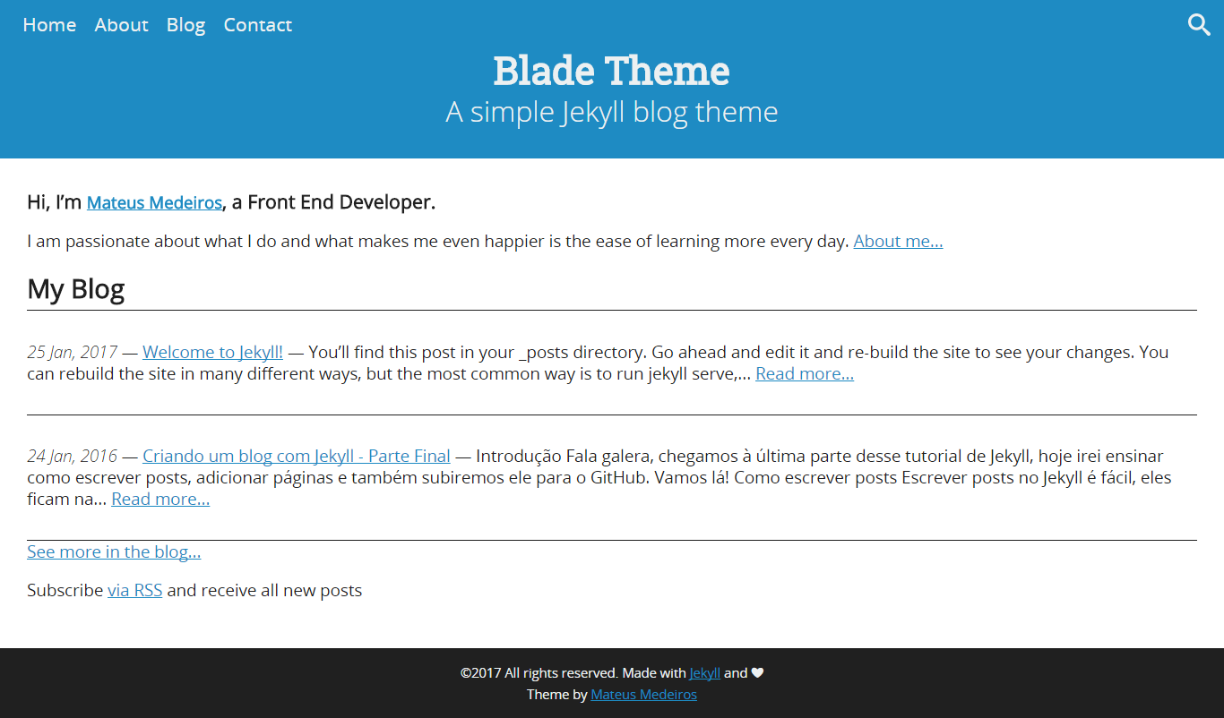 Screenshot of theme