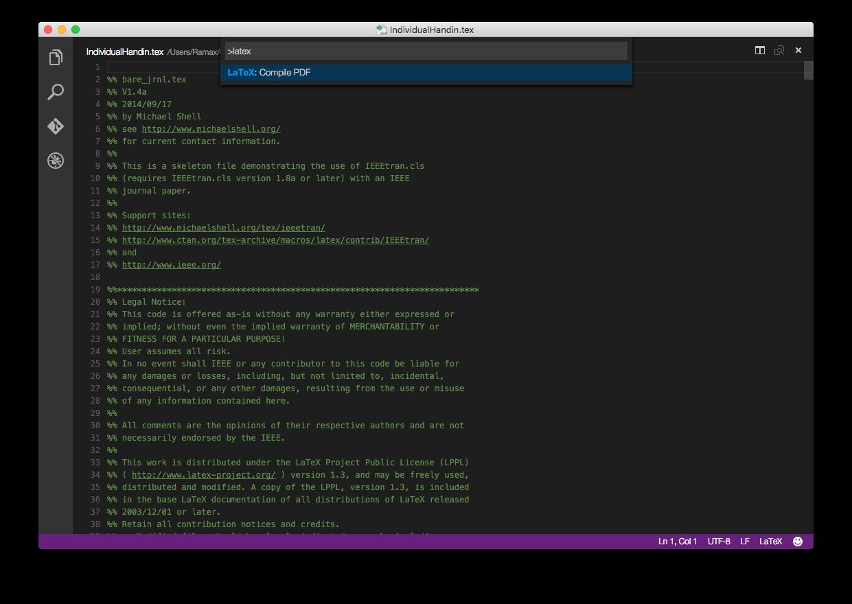 LaTeX Compile - Visual Studio Marketplace