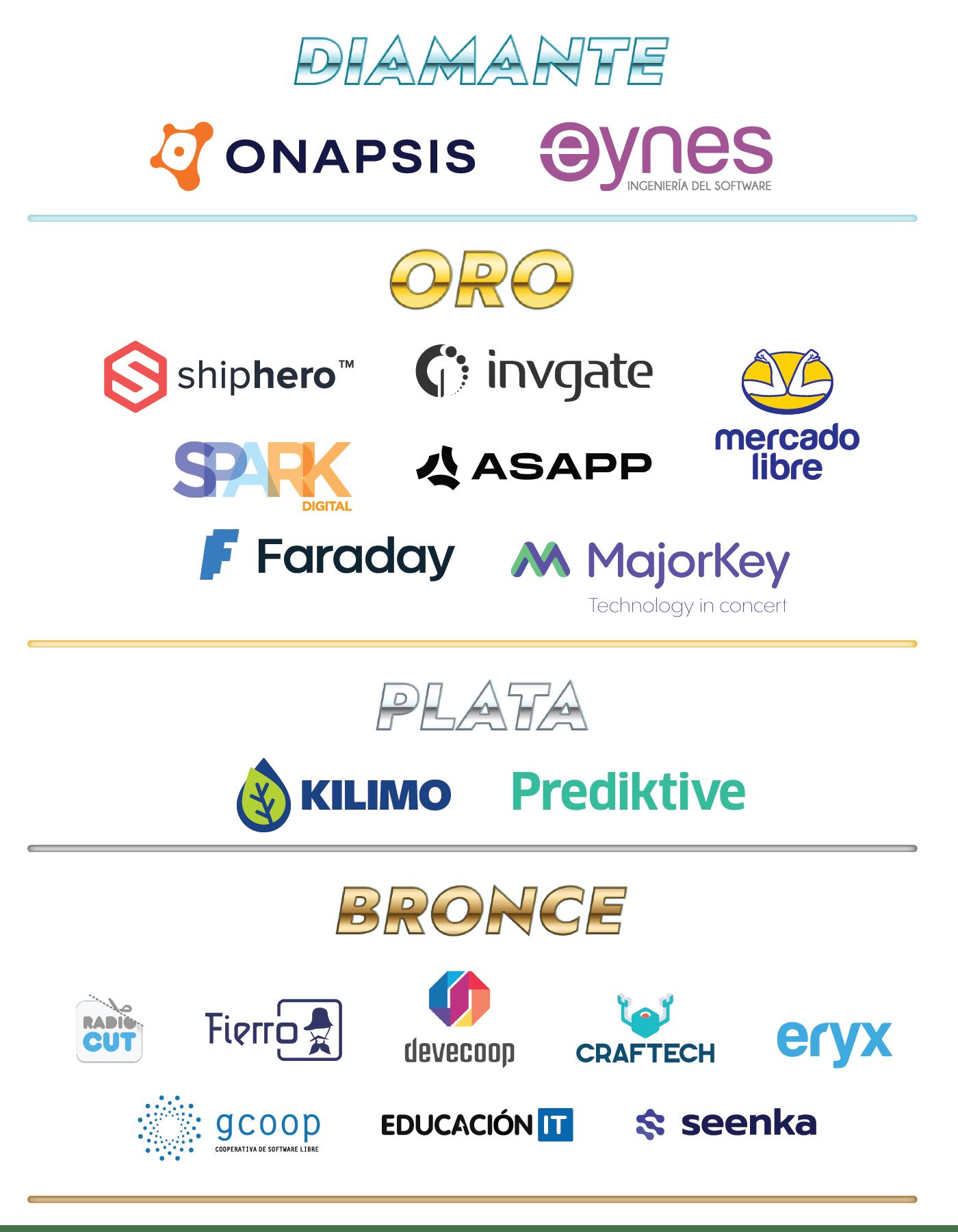 Lista de Sponsors